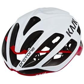 Kask Protone Kask rowerowy czerwony/biały